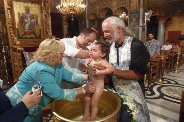 Βάπτιση γιου Κατερίνας Παρτσινέβελου