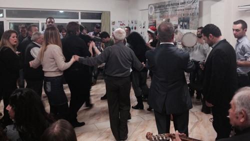 σύλλογος Ηπειρωτών Άνω Λιοσίων, χριστουγεννιάτικο γλέντι, πρόεδρος, Χρήστος Ρούσσας, χορευτικά τμήματα