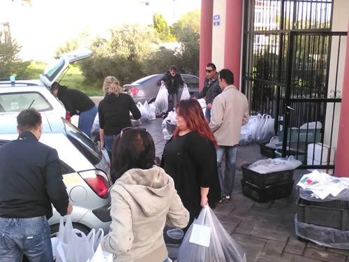 κεδηφ, δέματα αγάπης, τρόφιμα, μοίρασαν, άπορες οικογένεις, Γκίκας Χειλαδάκης, πρόεδρος, Κοινωφελής Επιχείρηση δήμου Φυλης