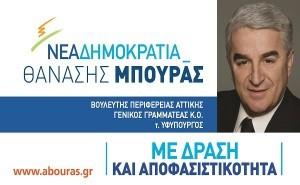 Θανάσης Μπούρας, βουλευτής ΝΔ, Περιφέρεια Αττικής