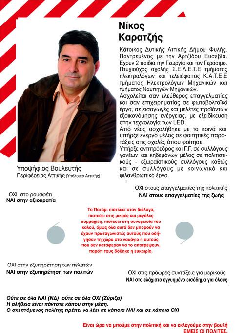 Νίκος Καρατζής, υποψήφιος βουλευτής, Περιφέρεια Αττικής