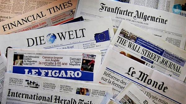 διεθνής Τύπος, ξένες εφημερίδες