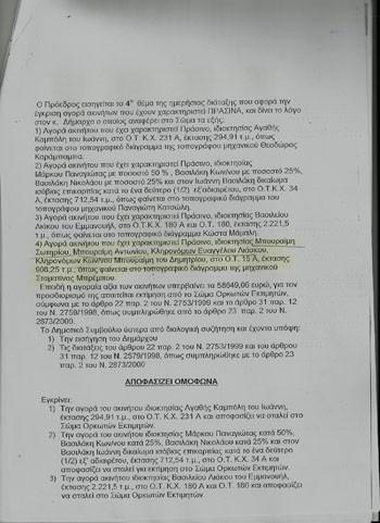 οικόπεδο, Φυλή, Δημήτρης Μπουραίμης, ΦΥΛΑΡΧΟΣ, δημοσίευμα, ανάρτηση