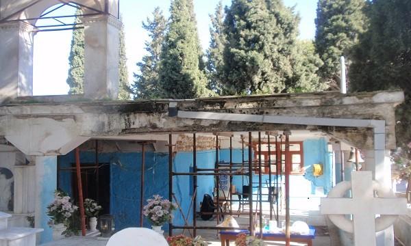 Ιερός Ναός Ευαγγελιστρίας παλαιό κοιμητήριο Αχαρνών