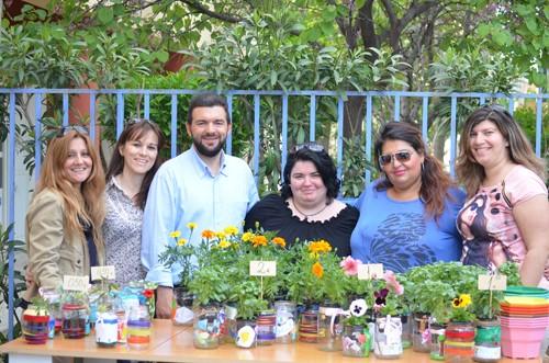 δεντροφύτευση, 7ο δημοτικό σχολείο, Άνω Λιόσια, παζάρι λουλουδιών, πρωτομαγιά, σύλλογος γονέων, κηδεμόνων