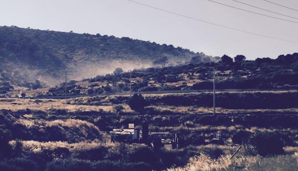 φωτιά, πυρκαγιά, Παναγία Κανάλα, Φυλή, θέση πέτρα συμπεθέρου, δήμος Φυλής