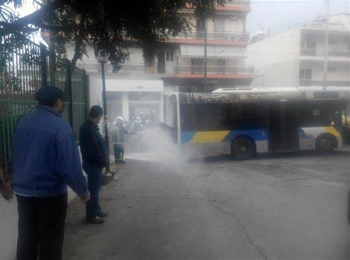 Λεωφορείο φωτιά Ίλιον