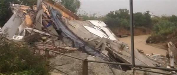 πλημμύρες, κατάρρευση, τριώροφο κτίσμα, ρέμα Εσχατιάς, Καματερό