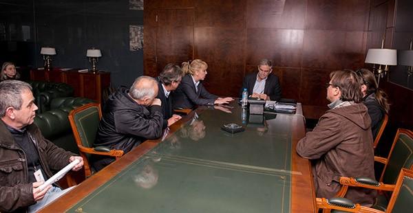 ΧΥΤΑ Φυλής, εργαζόμενοι, ΕΔΣΝΑ, συνάντηση, αναπληρωτής υπουργός προστασίας του πολίτη, Νίκος Τόσκας, περιφερειάρχης Αττικής, Ρένα Δούρου