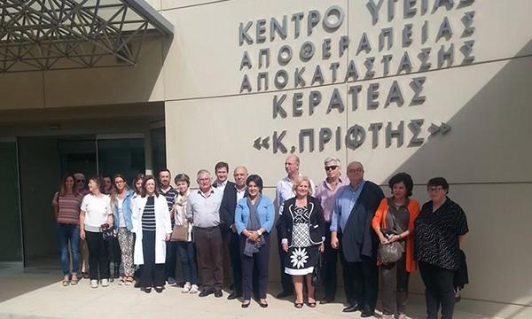 """Κέντρο Αποκατάστασης Κερατέας """"Κ.Πρίφτης"""", πολυκλινική Ολυμπιακού Χωριού, ΑΕΜΥ, επίσκεψη, γαλλική πόλη, Quimper"""