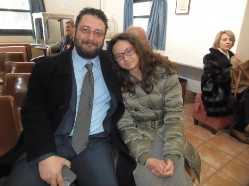 Ο Στέργιος Πεδιαδίτης με την κόρη του Φωτεινή