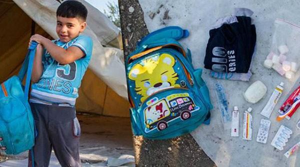 Μουσικό Σχολείο Ιλίου, παιδικά σακίδια, προσφυγόπουλα, Ίλιον