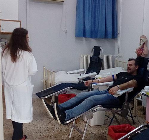 2ο ΕΚ, Δυτικής Αττικής, Άνω Λιοσίων, αιμοδοσία