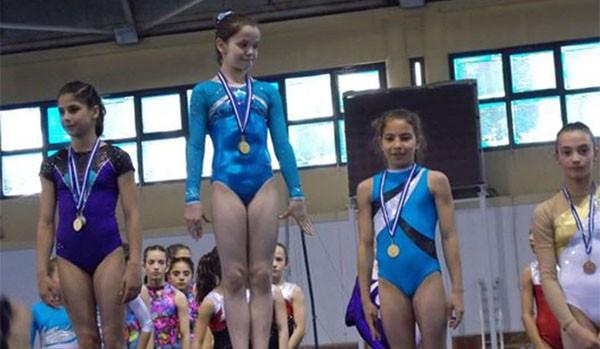 πανελλήνιο, πρωτάθλημα, ενόργανης γυμναστικής, Βασιλική Καβαθά, χρυσο, μετάλλιο, σύνθετο ομαδικό