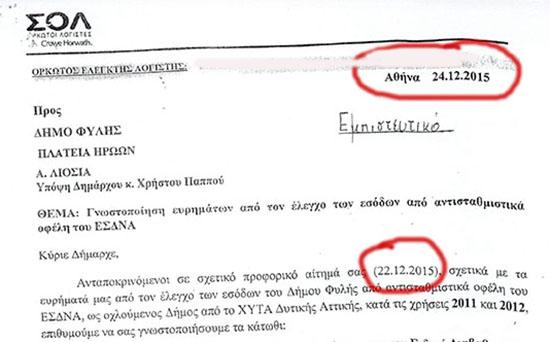 Ημερομηνία αιτήματος-έκθεσης