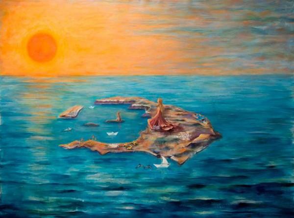 Βασίλης Καμπόλης, 3η Μπιενάλε, Σαντορίνης, Άνω Λιόσια, καλλιτέχνης