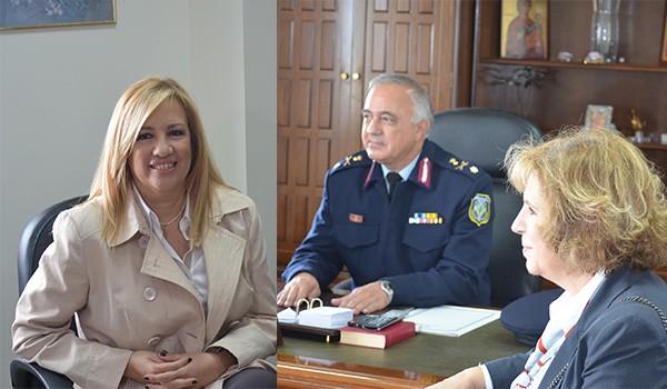 Φώφη Γεννηματά, πρόεδρος ΠΑΣΟΚ, Δημοκρατική Συμπαράταξη, επίσκεψη, Αχαρνές, δήμος Αχαρνών, Αστυνομική Διεύθυνση Δυτικής Αττικής, Ολυμπιακό Χωριό