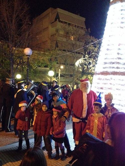 χριστουγεννιάτικο χωριό, Αη Βασίλη, Καματερό, δήμος Αγίων Αναργύρων - Καματερού