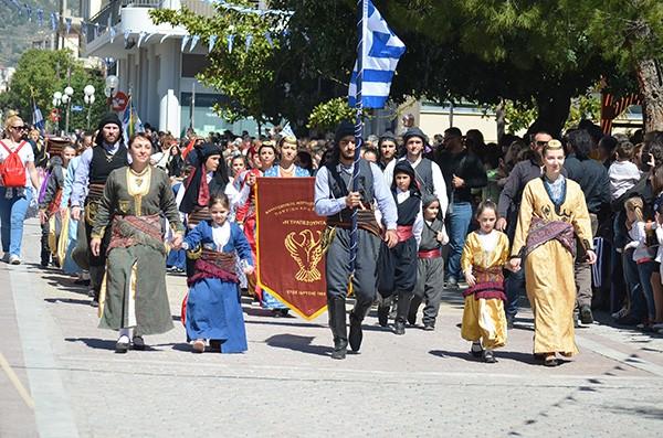 παρέλαση, σύλλογοι, πολιτιστικοί, αθλητικοί, Άνω Λιόσια, 25η Μαρτίου 2017, δήμος Φυλής