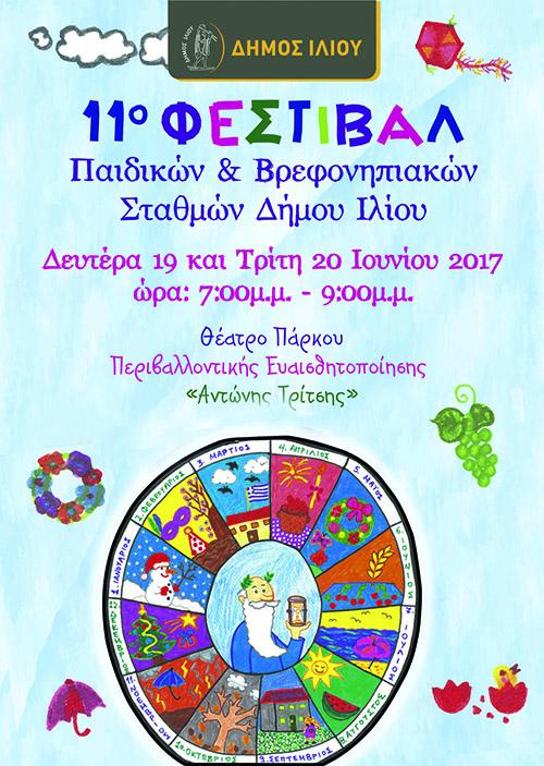 11ο Φεστιβάλ, παιδικών και βρεφονηπιακών σταθμών, δήμου Ιλίου
