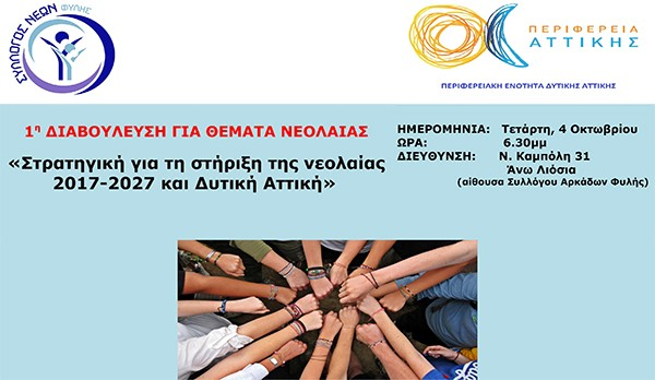 1η τοπική διαβούλευση για θέματα νεολαίας, σύλλογος Νέων Φυλής