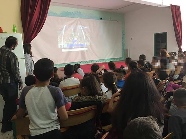9ο δημοτικό Άνω Λιοσίων, Δημοσθένης Ταμπάκος, παγκόσμια ημέρα σχολικού αθλητισμού