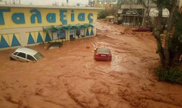 πλημμύρες, Μάνδρα, Νέα Πέραμος