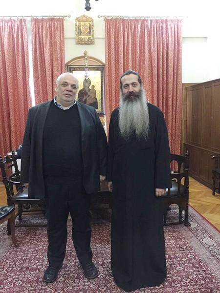 επίσκοπο Θεσπιών κ. Συμεών, Νίκος Σαράντης, δήμαρχος Αγίων Αναργύρων-Καματερού