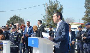 Αλέξης Τσίπρας, πρωθυπουργός, δήμος Φυλής, εγκαίνια, Υποδιεύθυνση Ασφάλειας Δυτικής Αττικής, Άνω Λιόσια