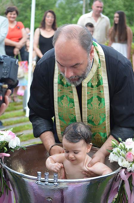 Κώστας Παπαιωάννου, Γιώργος Μπεσίρης, βάπτιση, Κτήμα Χατζηδάκη