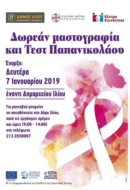 τεστ ΠΑΠ, Δήμος Ιλίου