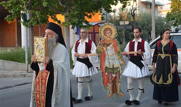 Με κατάνυξη και ευλάβεια οι εκδηλώσεις για τον εορτασμό του Αγίου Γεωργίου στη Ζωφριά