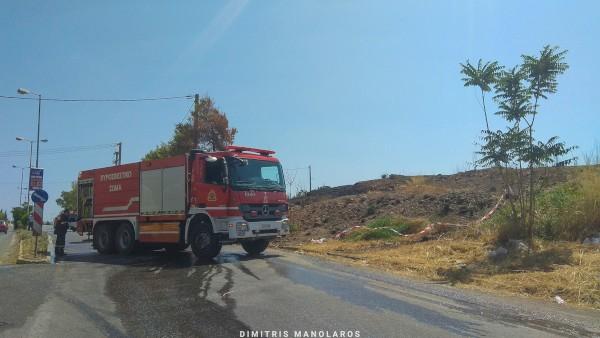 Φωτιά μικρής έκτασης σε οικόπεδα μεταξύ Άνω Λιοσίων και Αχαρνών