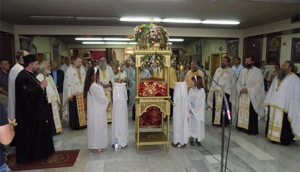 Με την λιτάνευση της εικόνας της Παναγίας στους δρόμους του Ζεφυρίου κορυφώθηκαν οι πολιτιστικές και θρησκευτικές εκδηλώσεις για τον εορτασμό του Ι.Ν Παναγίας Γρηγορούσας.