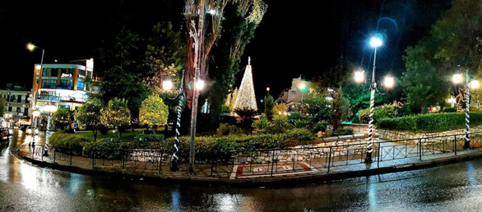 φουγάρο, παλαιό καμίνι, Πετρούπολη, φωταγώγηση, Χριστούγεννα, Δήμος Πετρούπολης