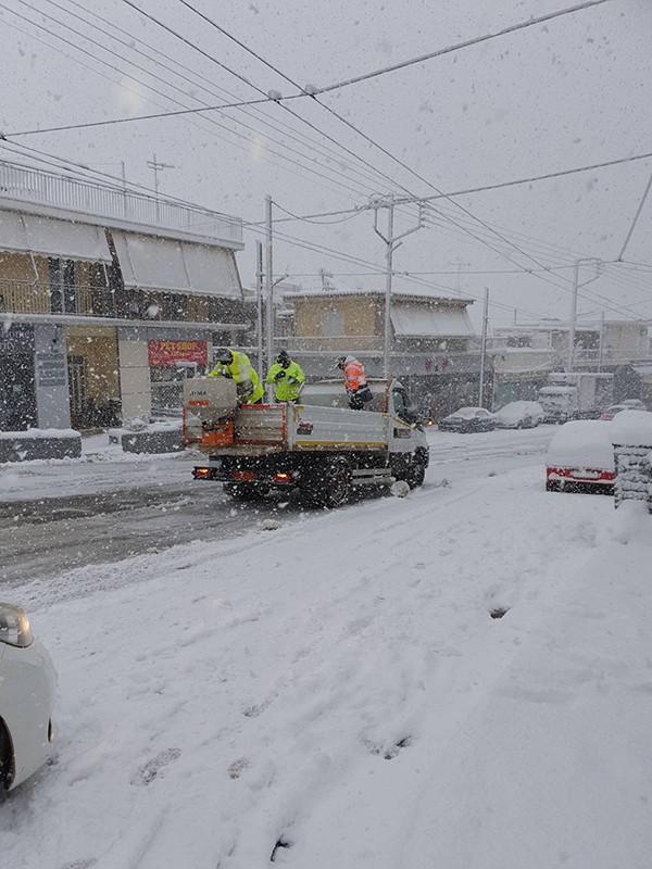 χιόνι, συνεργεία, κακοκαιρία, Δήμος Ιλίου,