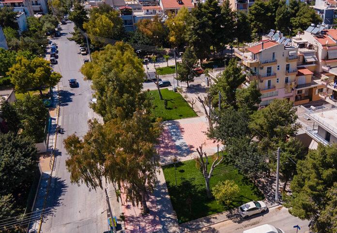 Νέο κοινόχρηστο χώρο με πράσινο στην Παλατιανή διαμόρφωσε ο Δήμος Ιλίου